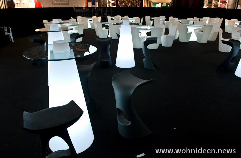Cafehaus Möbel beleuchtet Pausenraum Möbel Event Möbel - Loungemöbel Beleuchtet