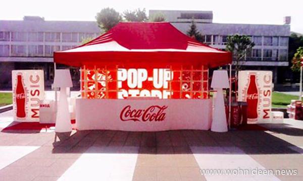 Coca Cola Pop Up Store mit beleuchteten Möbeln - Loungemöbel Beleuchtet