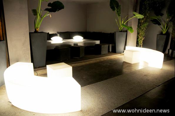 Designer Lounge Gartenmöbel mit Beleuchtung - Loungemöbel Beleuchtet