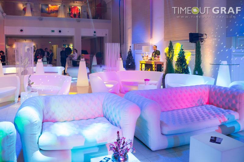 Lounge Möbel Sichtschutz Trennwand in weiss - Raumteiler