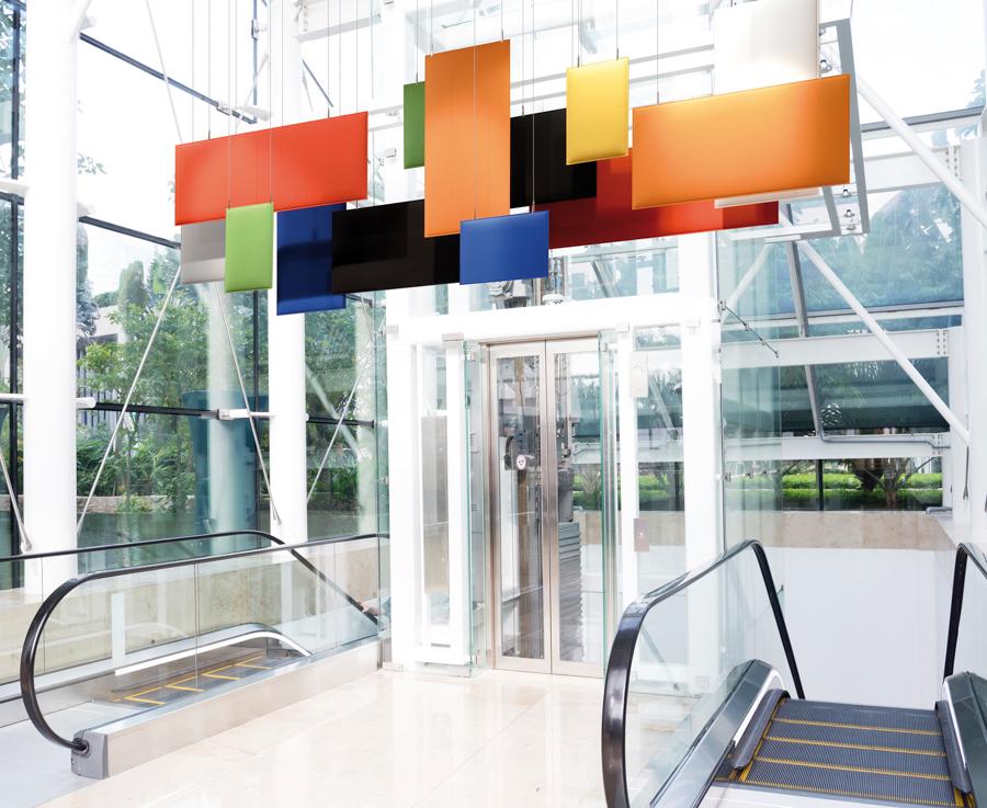 Mobile Schallschutzwand Wartezimmer - Büro Schallschutz Decke