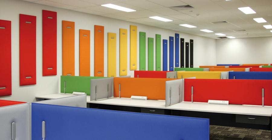 Schallschutz durch Trennwände im Büro - Büro Schallschutz Decke