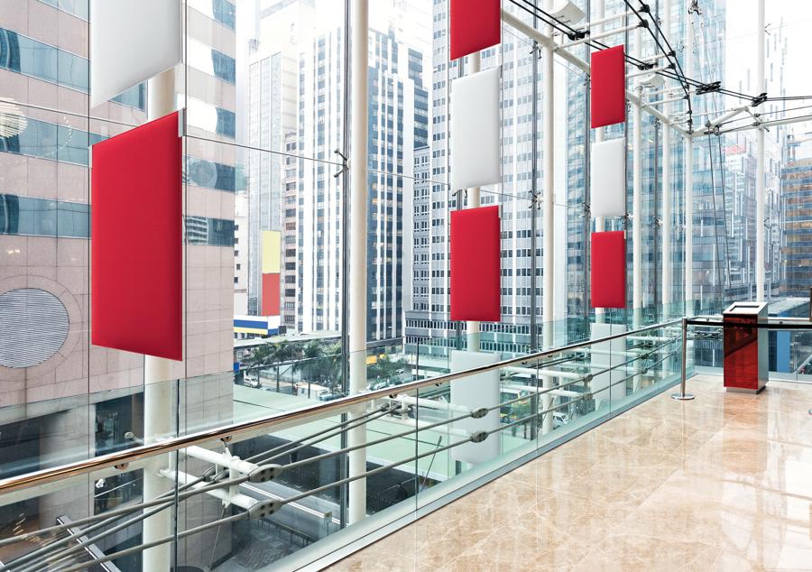Schallschutzwände Lärmschutzwände im Büro - Büro Schallschutz Decke