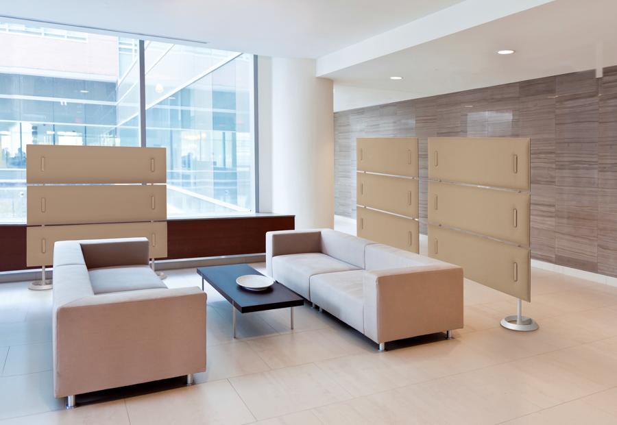 Stellwände Raumteiler WArtezimmer - Büro Schallschutz Decke