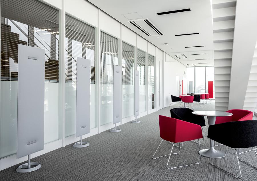 Trennwände Klima Schall und Stauraum Mobile Schallschutzwand - Büro Schallschutz Decke