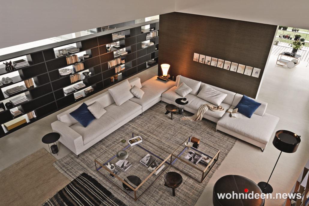 Wunderbare Wandgestaltung im Wohnzimmer Wohnidee 1030x688 - Wohnzimmer Ideen