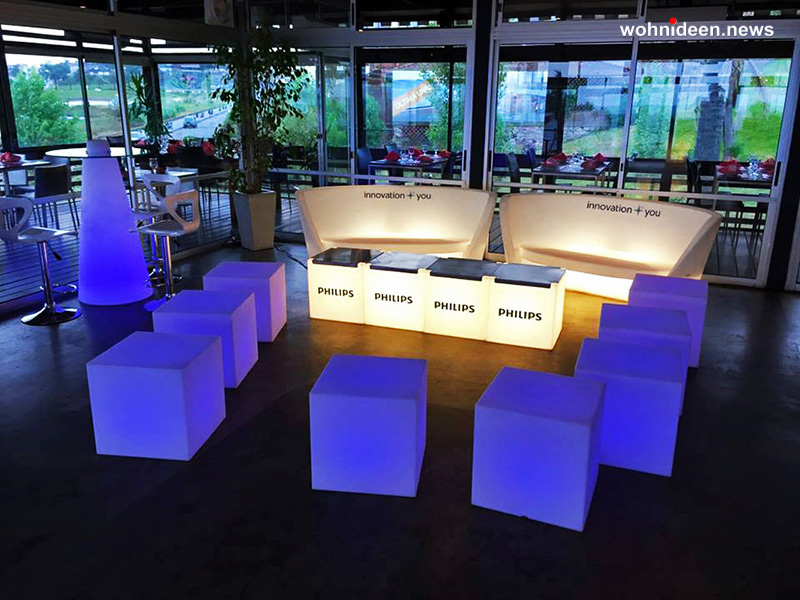 01 slide eventi philips seven Montevideo uruguay 3 leuchtmöbel - Leuchtwürfel Sitzwürfel Hocker beleuchtet