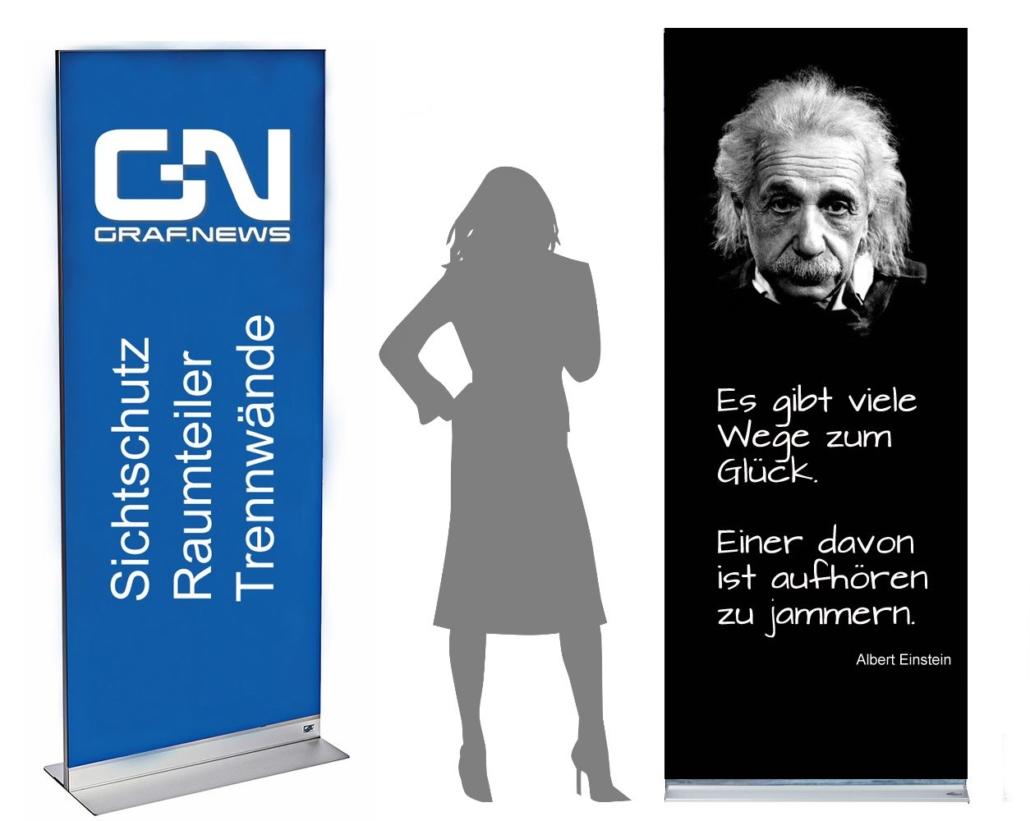 Albert Einstein Raumteiler Trennwand Graf News 1030x821 - Trennwand mit Motiv und Muster