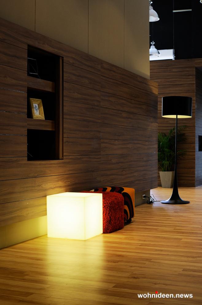 Außenleuchten Außenbeleuchtung Würfel - CUBO Leuchtwürfel | Sitzwürfel beleuchtet