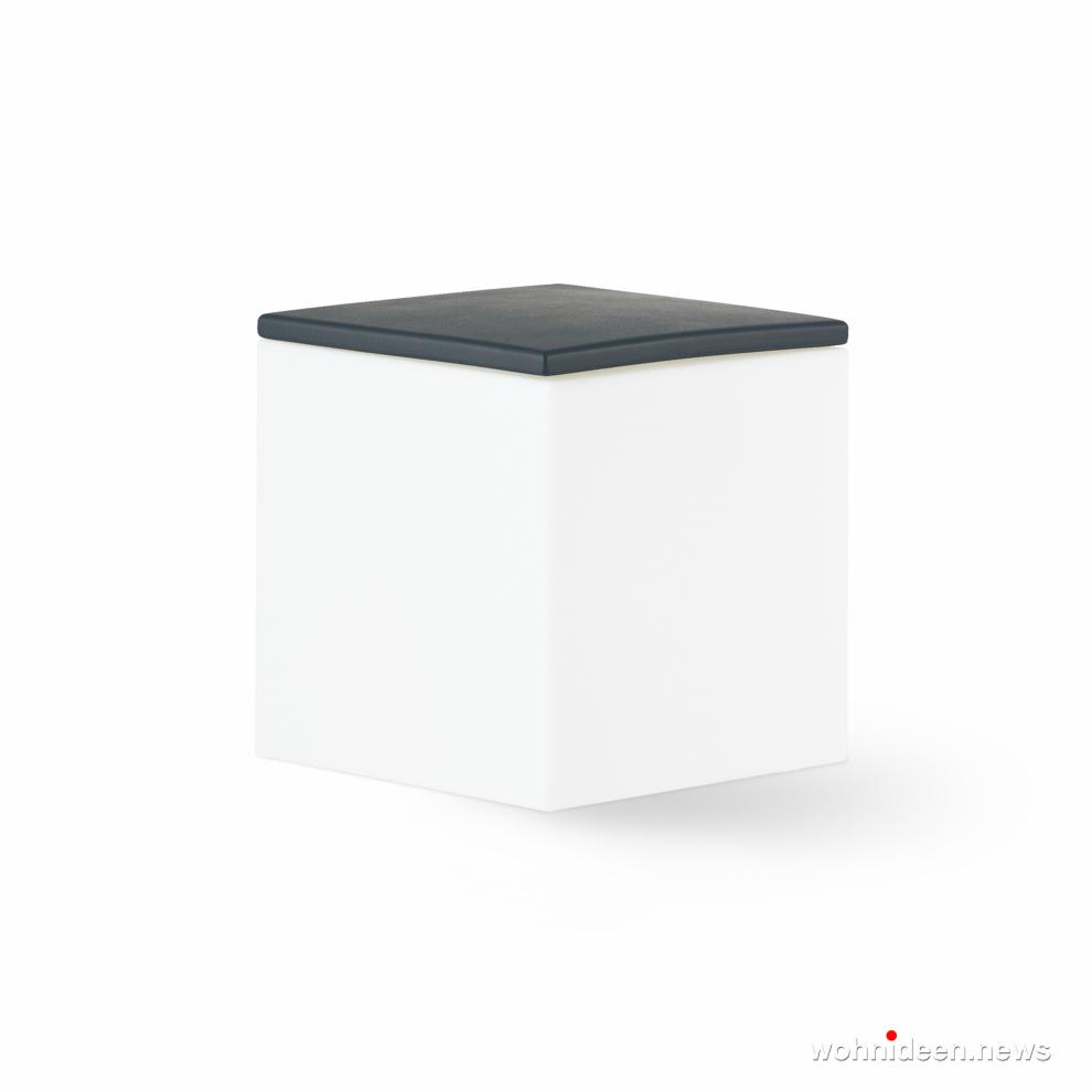 Gartenlampe Würfel cube weiß - CUBO Leuchtwürfel | Sitzwürfel beleuchtet