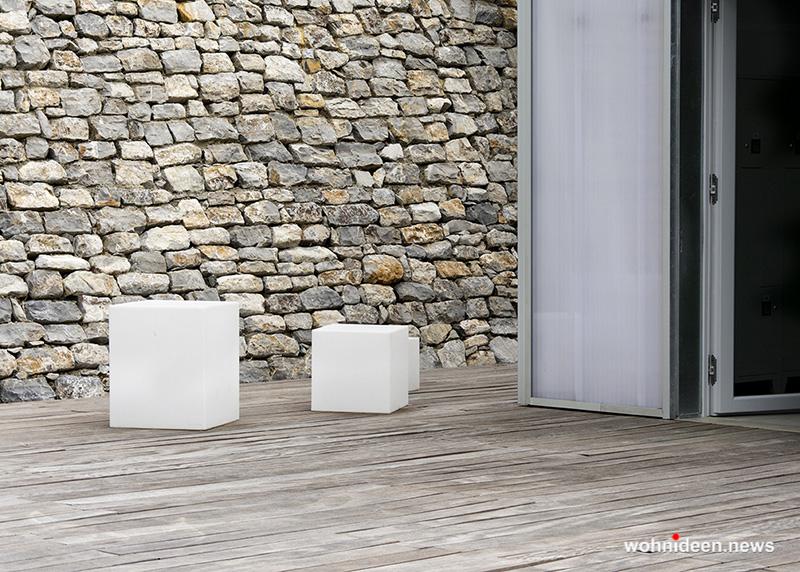 Kunststoff Sitzwürfel In Outdoor - CUBO Leuchtwürfel | Sitzwürfel beleuchtet