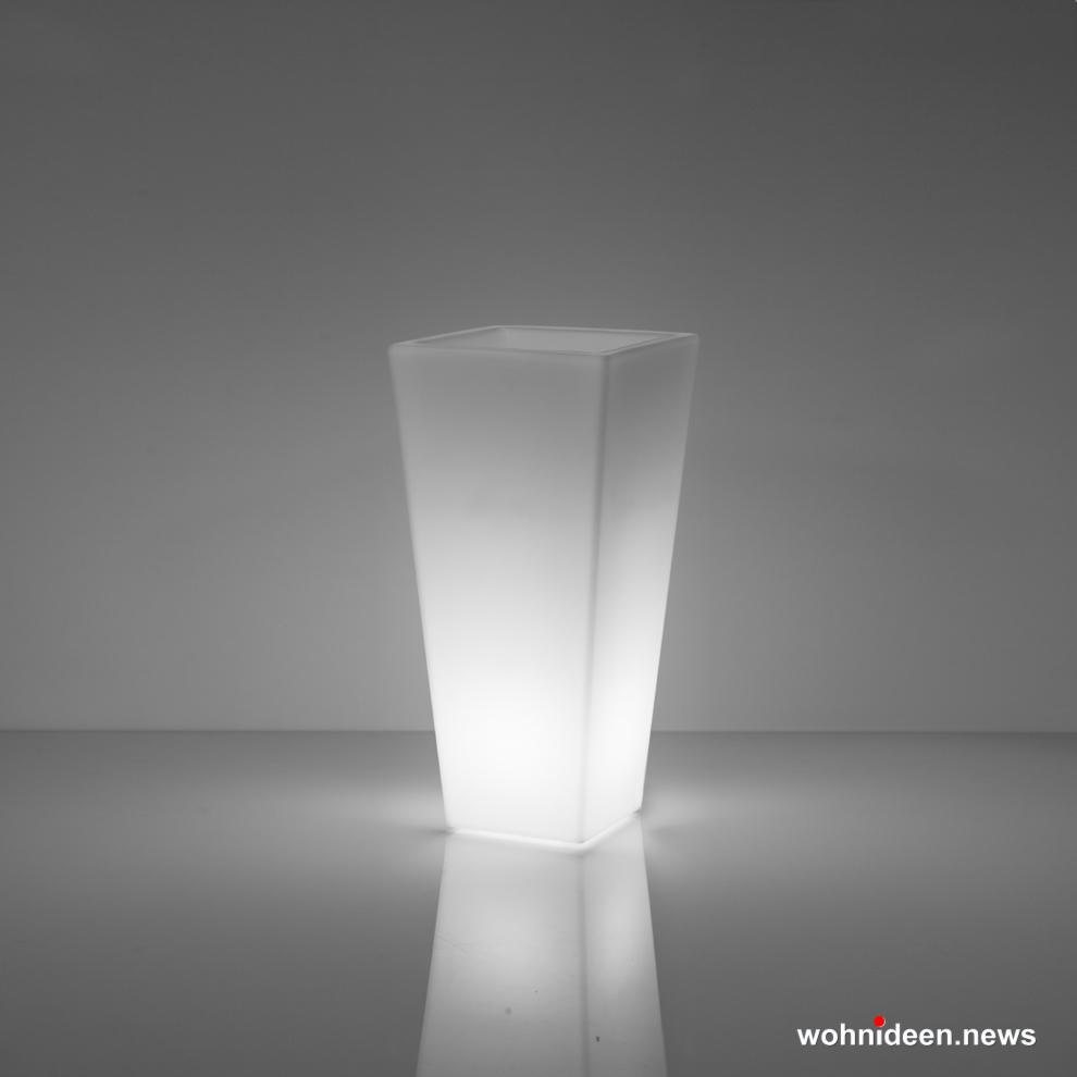 Loungemöbel Möbelvermietung Y pot 90 lighting light whIte sfondo - Beleuchtete Loungemöbel & Beleuchtete Outdoor Möbel
