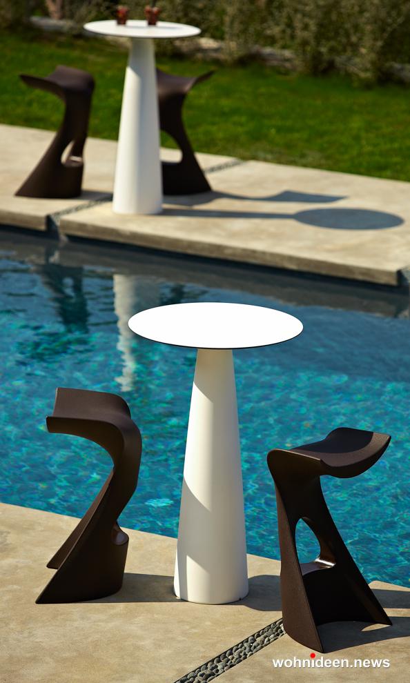Loungemöbel Möbelvermietung table hoplà 4 - Wetterfeste Gartenmöbel & Wetterfeste Terrassenmöbel