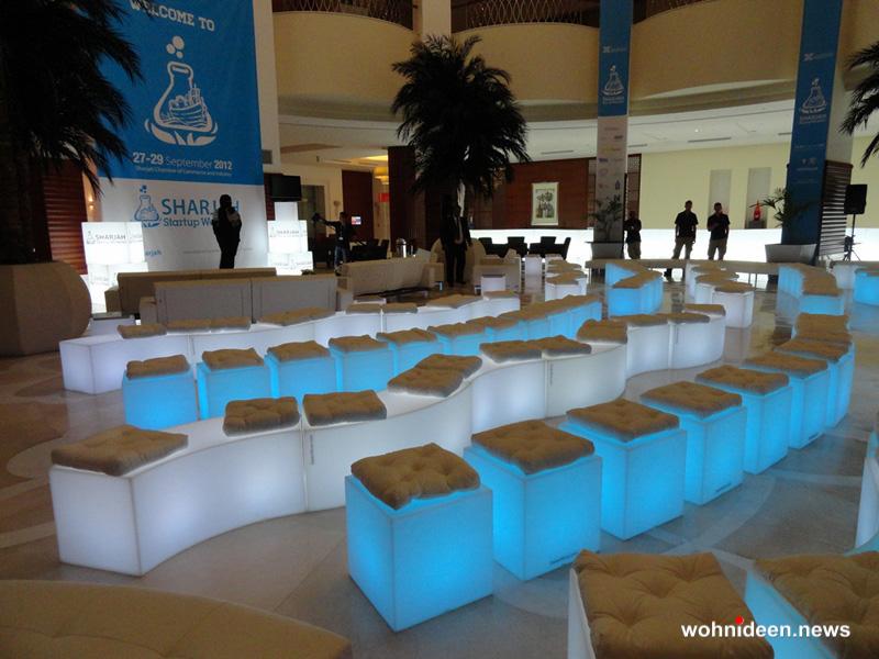Moree Cube LED Outdoor Sitzwürfel weiß ABS Kunststoff slide design - CUBO Leuchtwürfel | Sitzwürfel beleuchtet