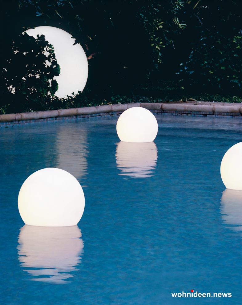 Schwimmkugeln mit LED - Kugelleuchte & Kugellampe