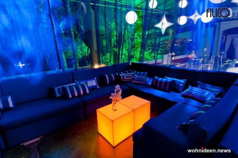 Sitzwürfel Sitzbänke Sitzmöbel - CUBO Leuchtwürfel | Sitzwürfel beleuchtet