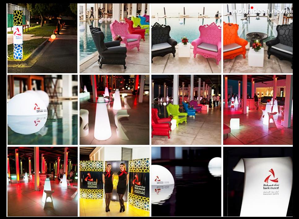 Slide Leuchten leuchtmöbel - Leuchtwürfel Sitzwürfel Hocker beleuchtet