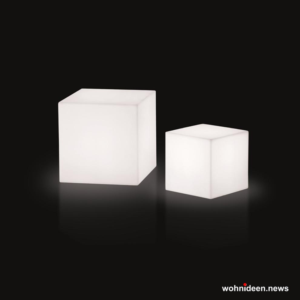 Würfelleuchten Epstein Design oder Slide - Sitzwürfel beleuchtet Hocker Leuchtwürfel