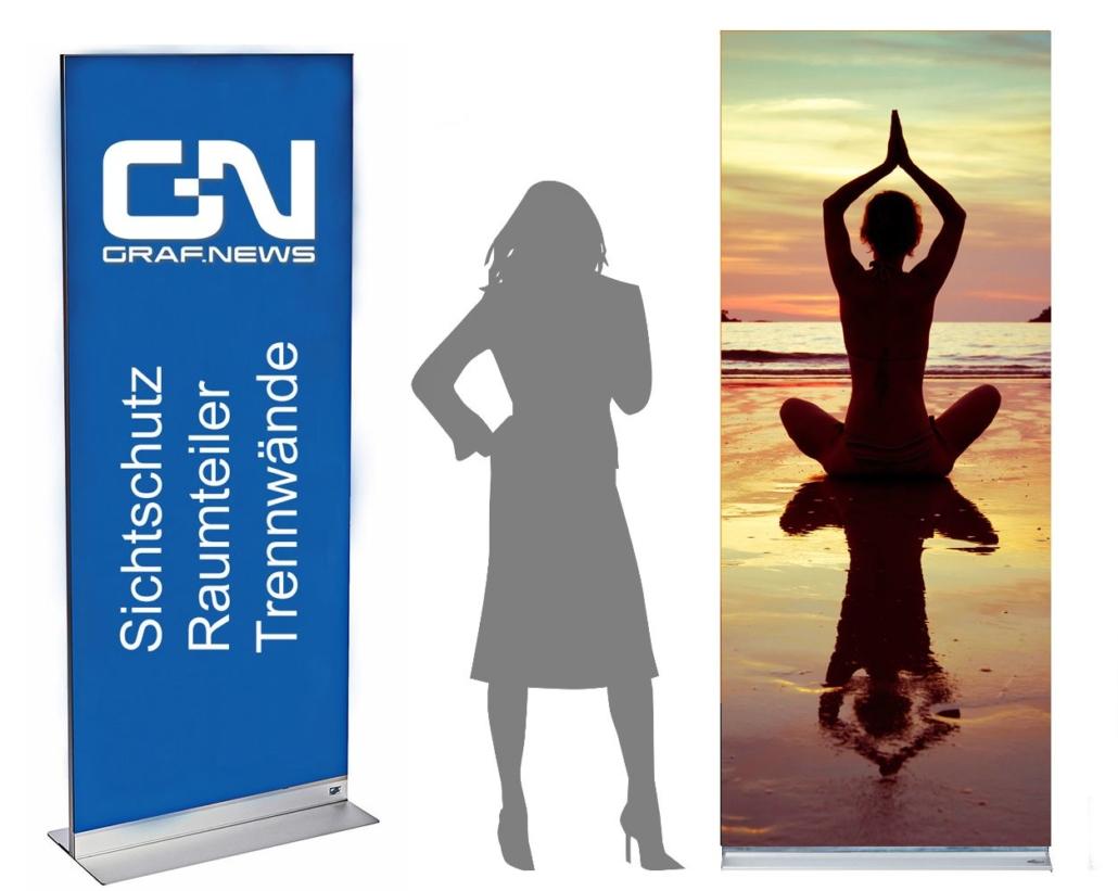 Yoga Angebote Trennwand Sichtschutz 1030x821 - Trennwand mit Motiv und Muster