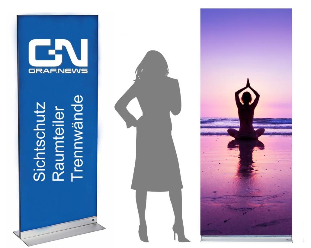 Yoga Kurse Raumteiler Sichtschutz 1030x821 - Trennwand mit Motiv und Muster