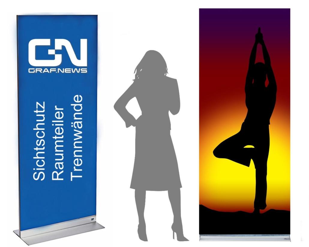 Yoga Mobiler Raumteiler Faltwand 1030x821 - Trennwand mit Motiv und Muster