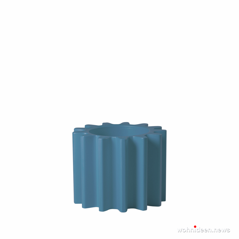 ausgefallene blumentöpfe blau - Ausgefallene Blumentöpfe und Vasen für draußen