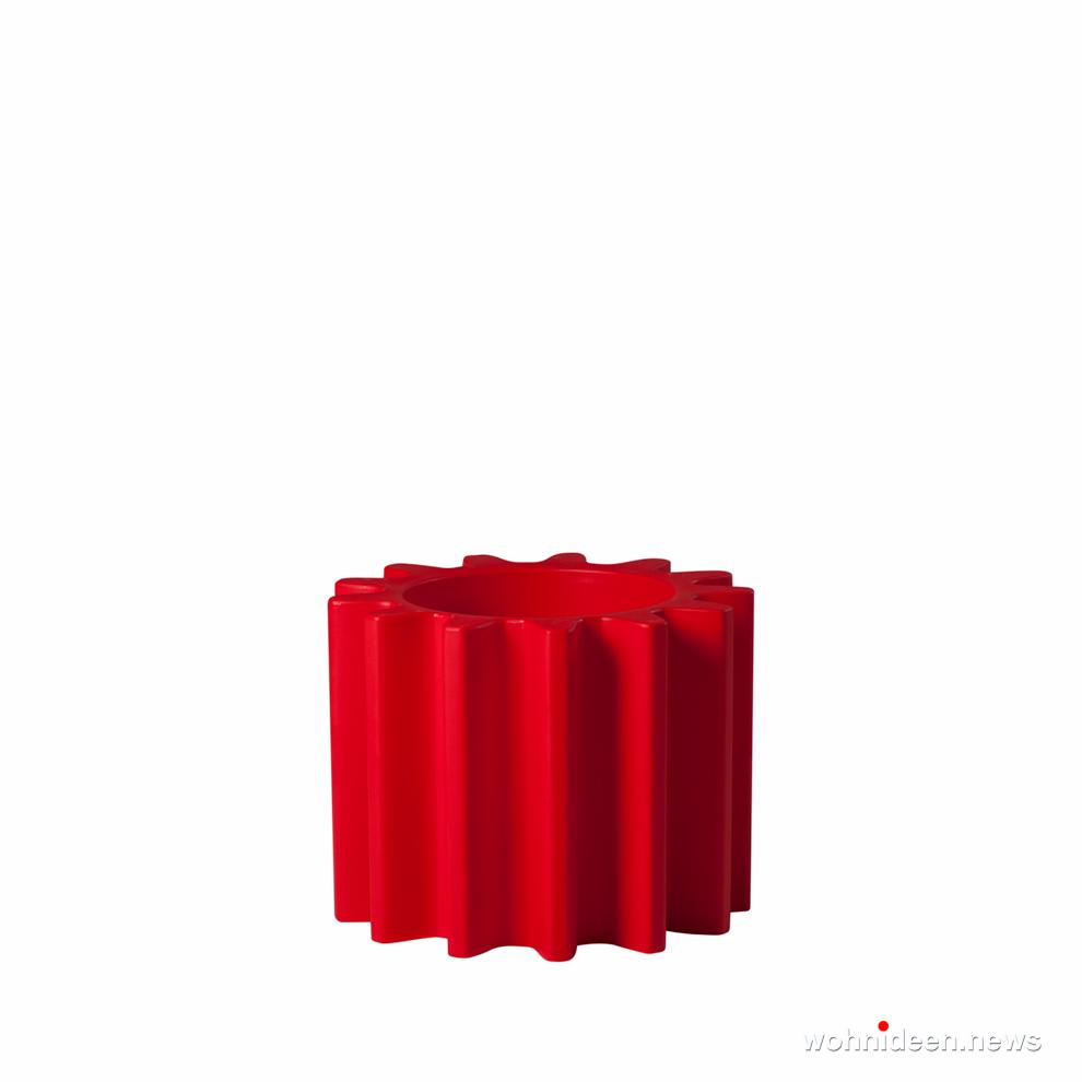 ausgefallene blumentöpfe rot - Ausgefallene Blumentöpfe und Vasen für draußen