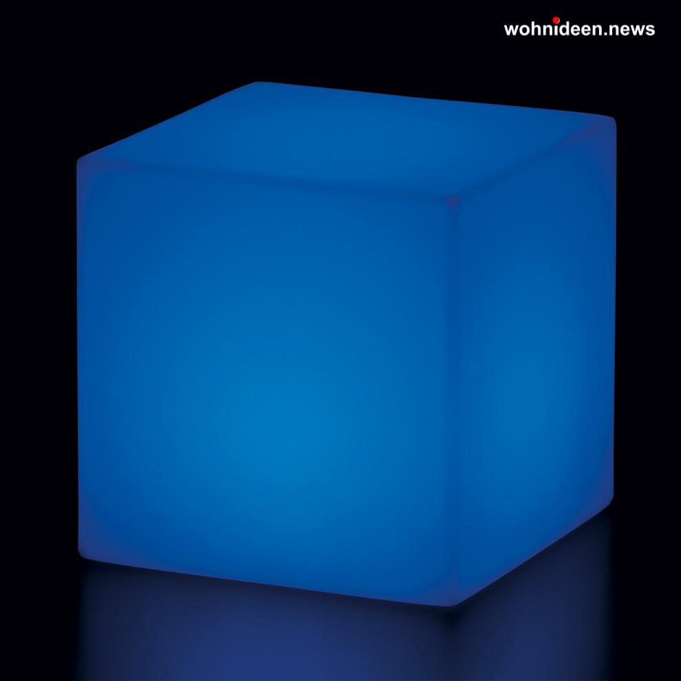 blaue leuchtwürfel slide cubo led - LED Möbel + Beleuchtete Möbel + Leuchtmöbel Shop