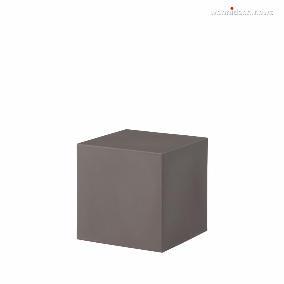 cubo 40 argil grey prosp leuchtmöbel - Leuchtwürfel Sitzwürfel Hocker beleuchtet