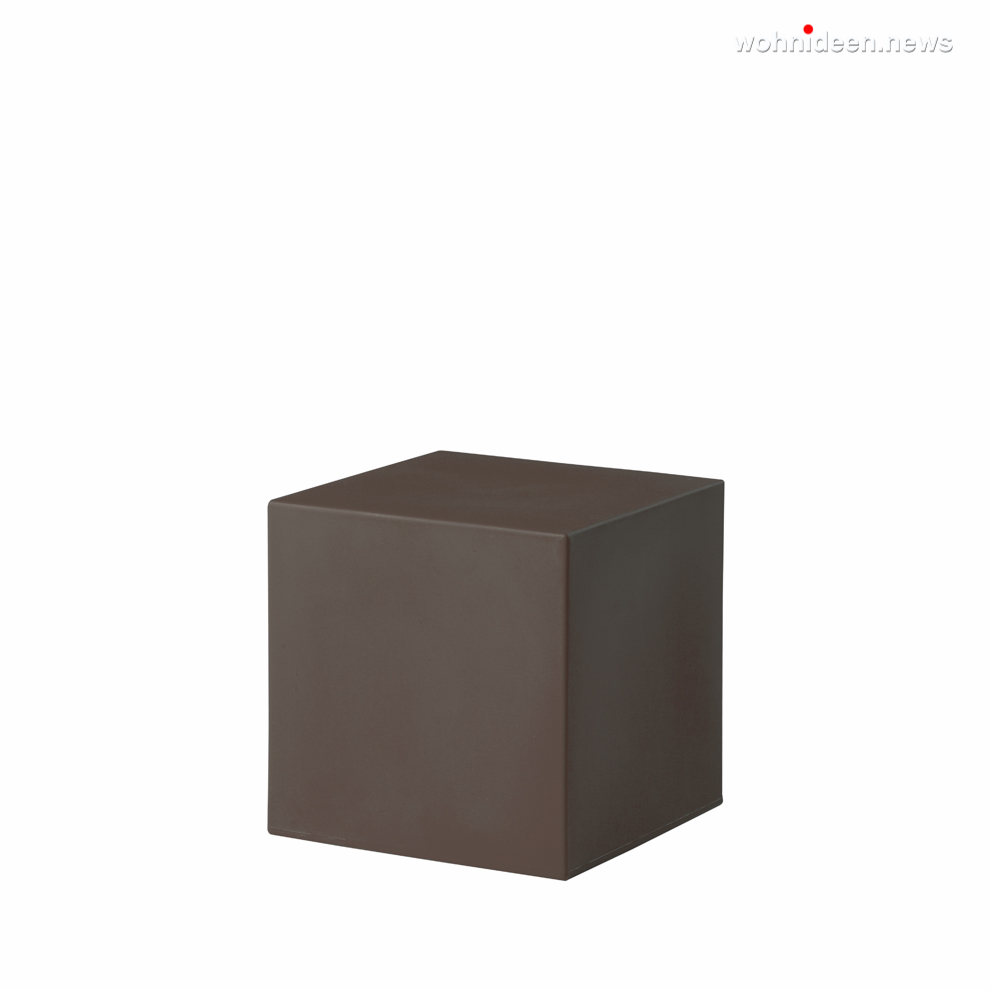 cubo 40 chocolate brown prosp leuchtmöbel - Leuchtwürfel Sitzwürfel Hocker beleuchtet