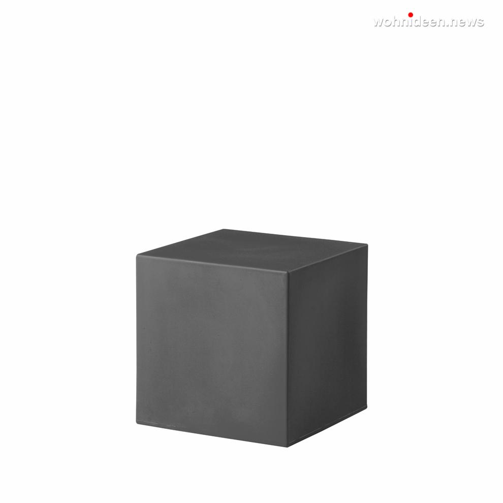 cubo 40 elephant grey prosp leuchtmöbel - Leuchtwürfel Sitzwürfel Hocker beleuchtet