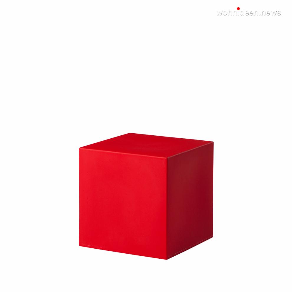 cubo 40 flame red prosp leuchtmöbel - Leuchtwürfel Sitzwürfel Hocker beleuchtet