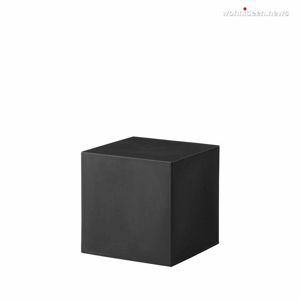 cubo 40 jet black prosp leuchtmöbel - Leuchtwürfel Sitzwürfel Hocker beleuchtet