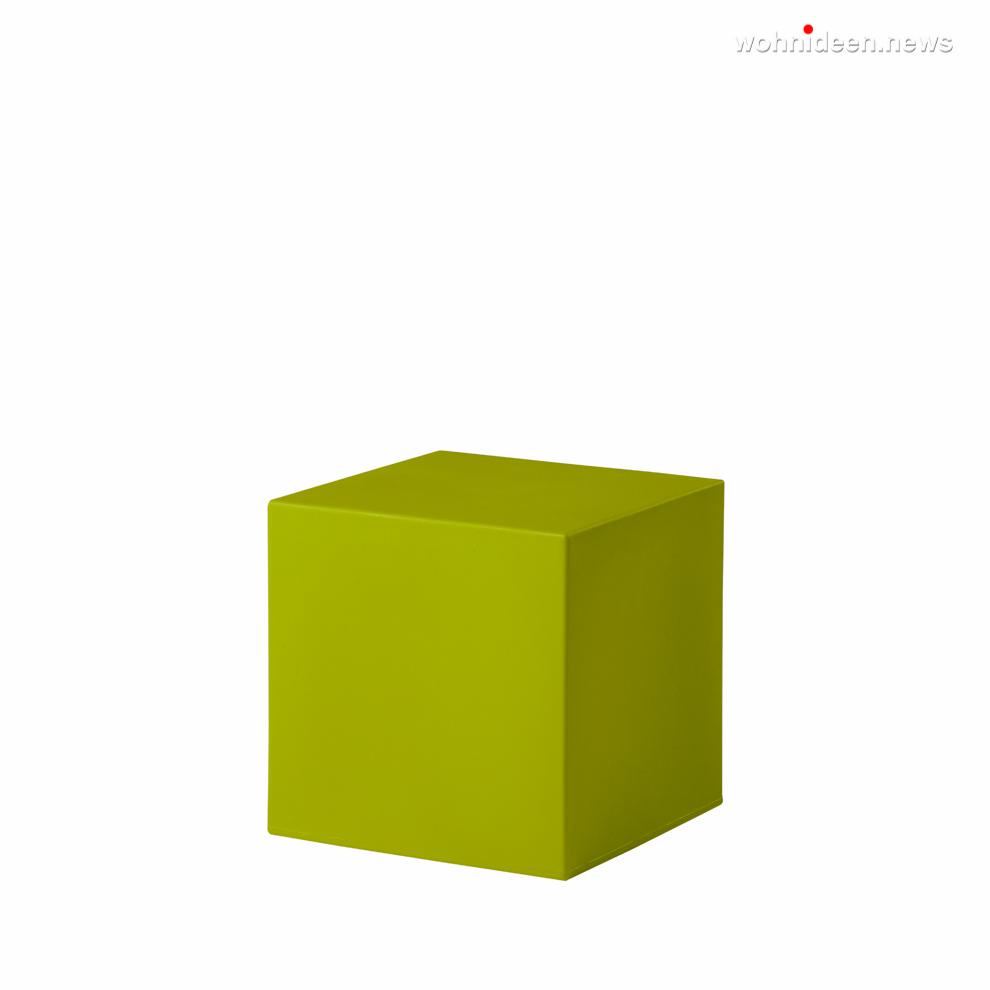 cubo 40 lime green prosp leuchtmöbel - Leuchtwürfel Sitzwürfel Hocker beleuchtet