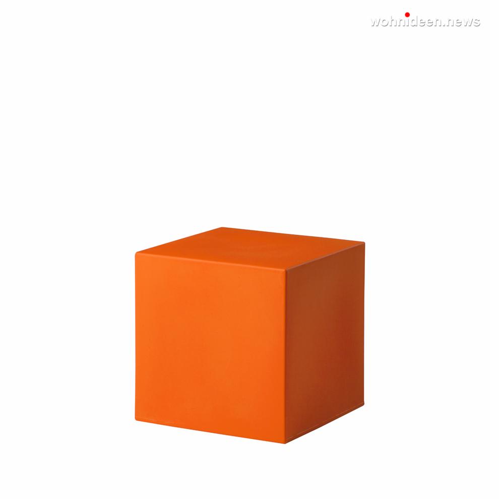 cubo 40 pumpkin orange prosp leuchtmöbel - Leuchtwürfel Sitzwürfel Hocker beleuchtet