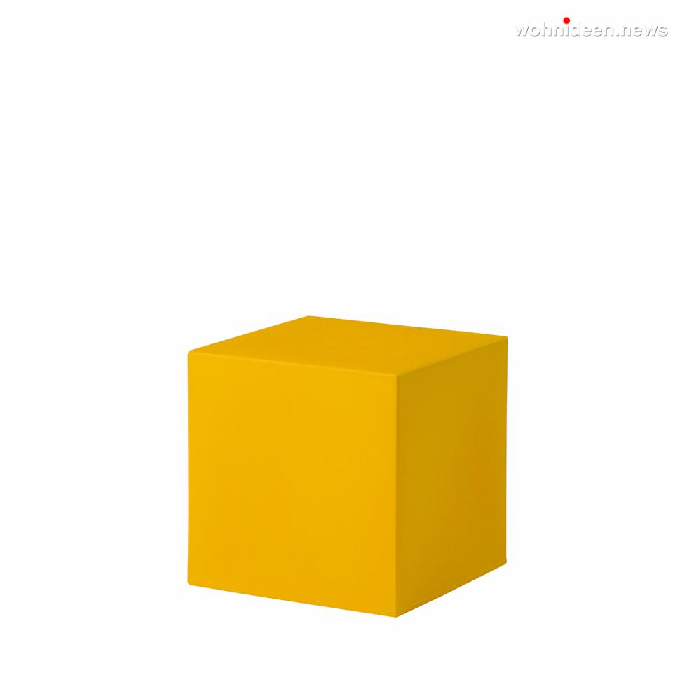 cubo 40 saffron yellow prosp leuchtmöbel - Leuchtwürfel Sitzwürfel Hocker beleuchtet