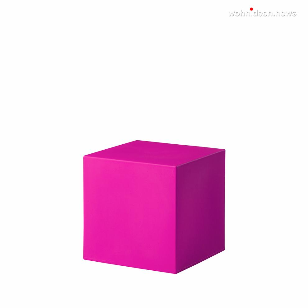 cubo 40 sweet fuschia prosp leuchtmöbel - Leuchtwürfel Sitzwürfel Hocker beleuchtet