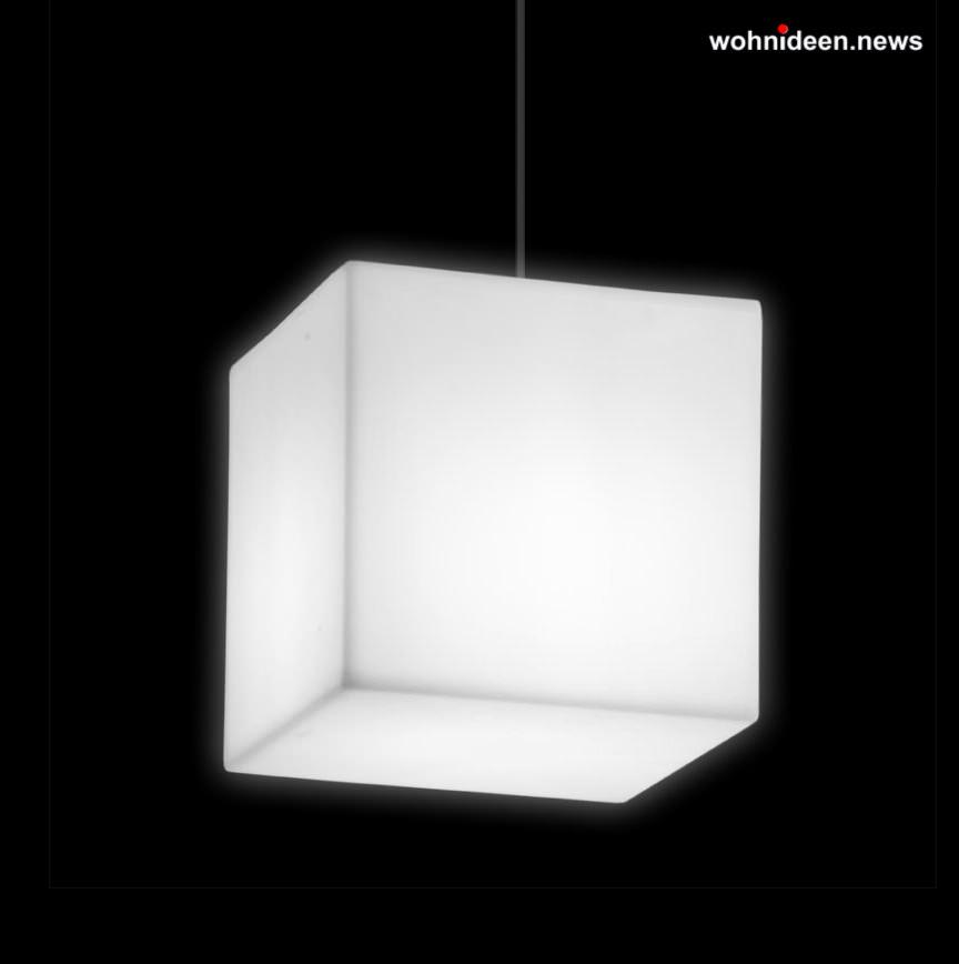 deckenmontage leuchtwürfel slide cubo hanging - LED Möbel + Beleuchtete Möbel + Leuchtmöbel Shop