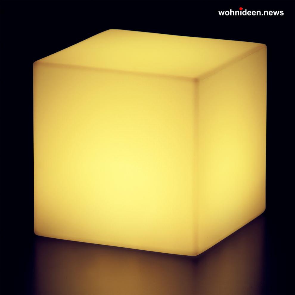 gelbe leuchtwürfel slide cubo led - LED Möbel + Beleuchtete Möbel + Leuchtmöbel Shop