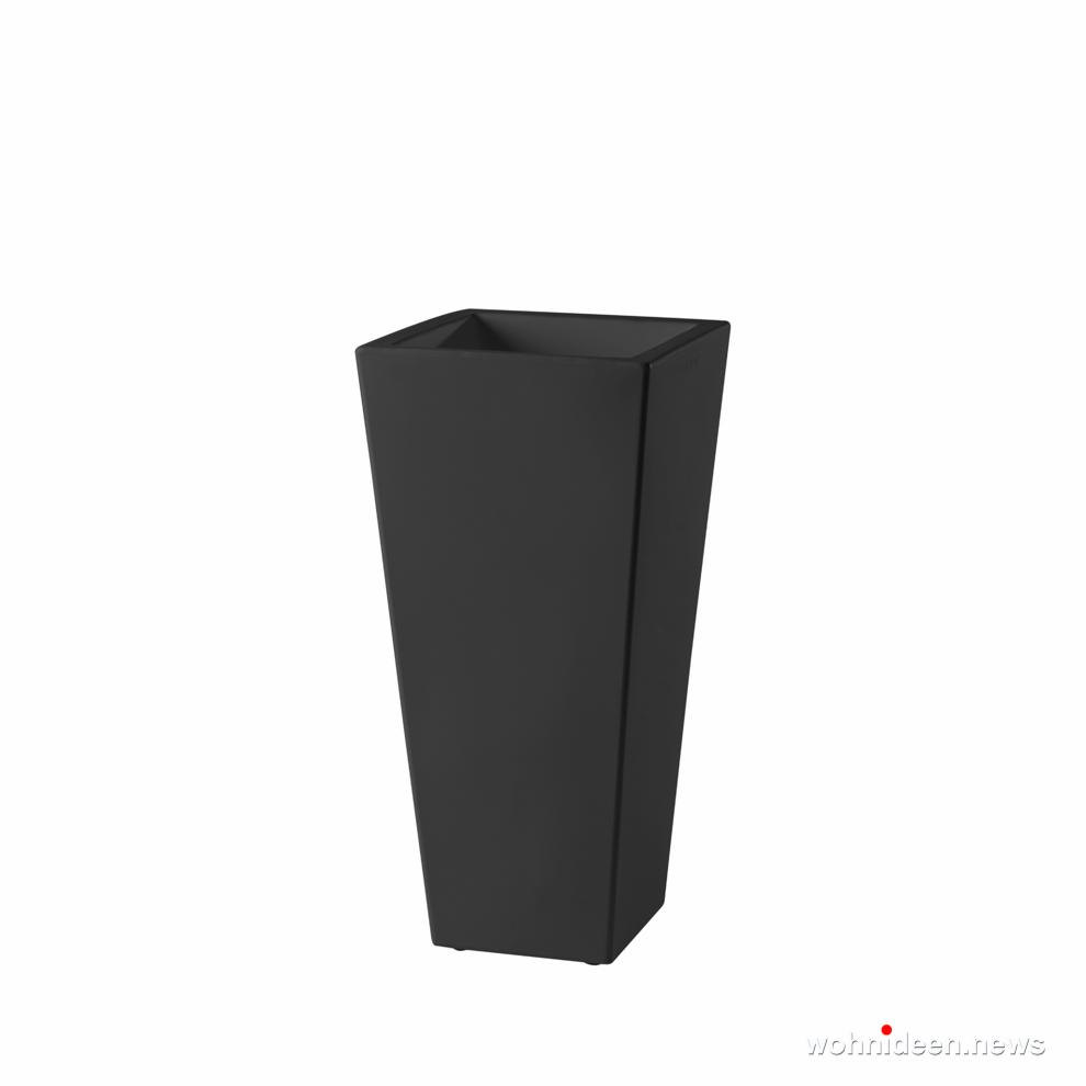 hohe bodenvasen schwarz - Ausgefallene Blumentöpfe und Vasen für draußen