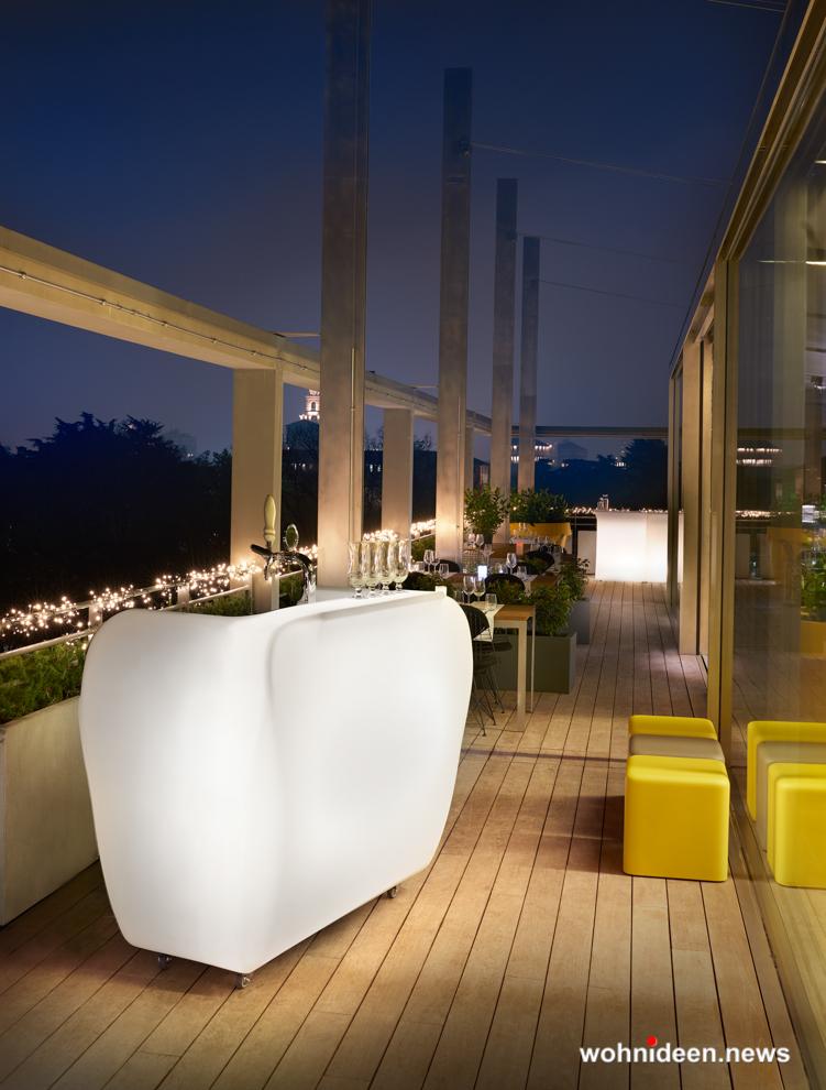 led bar kunststoff outdoor beleuchtet Slide stool soft cubo 3 - CUBO Leuchtwürfel | Sitzwürfel beleuchtet