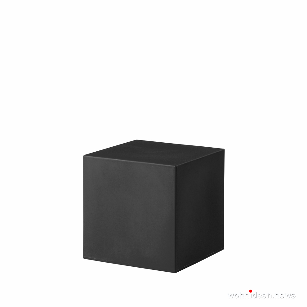 led sitzwürfel beleuchtet Slide cubo 40 jet black - CUBO Leuchtwürfel | Sitzwürfel beleuchtet