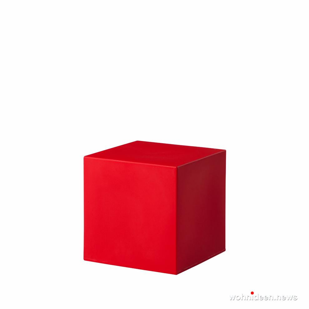 led sitzwürfel kunststoff outdoor beleuchtet Slide cubo 40 flame red prosp - CUBO Leuchtwürfel | Sitzwürfel beleuchtet