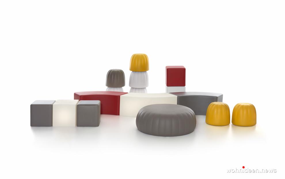 led sitzwürfel und bank kunststoff outdoor beleuchtet Slide stool soft cubo 5 - CUBO Leuchtwürfel | Sitzwürfel beleuchtet