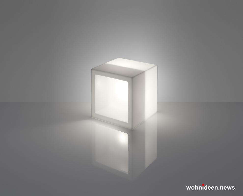 led würfel kunststoff outdoor beleuchtet Slide Open Cube Lighting Light White Sfondo - CUBO Leuchtwürfel | Sitzwürfel beleuchtet