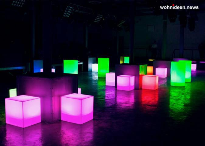 leuchtwürfel slide möbelvermietung hochzeit - LED Möbel + Beleuchtete Möbel + Leuchtmöbel Shop