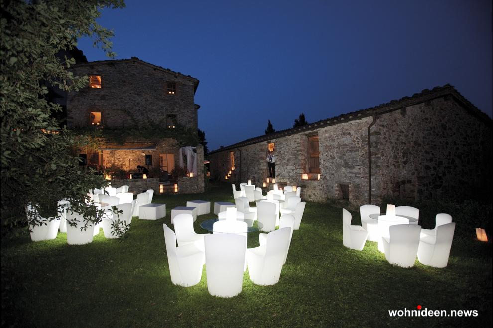 loungemöbel gartenmöbel chair zoe 8 - LED Möbel, beleuchtete Möbel, Leuchtmöbel