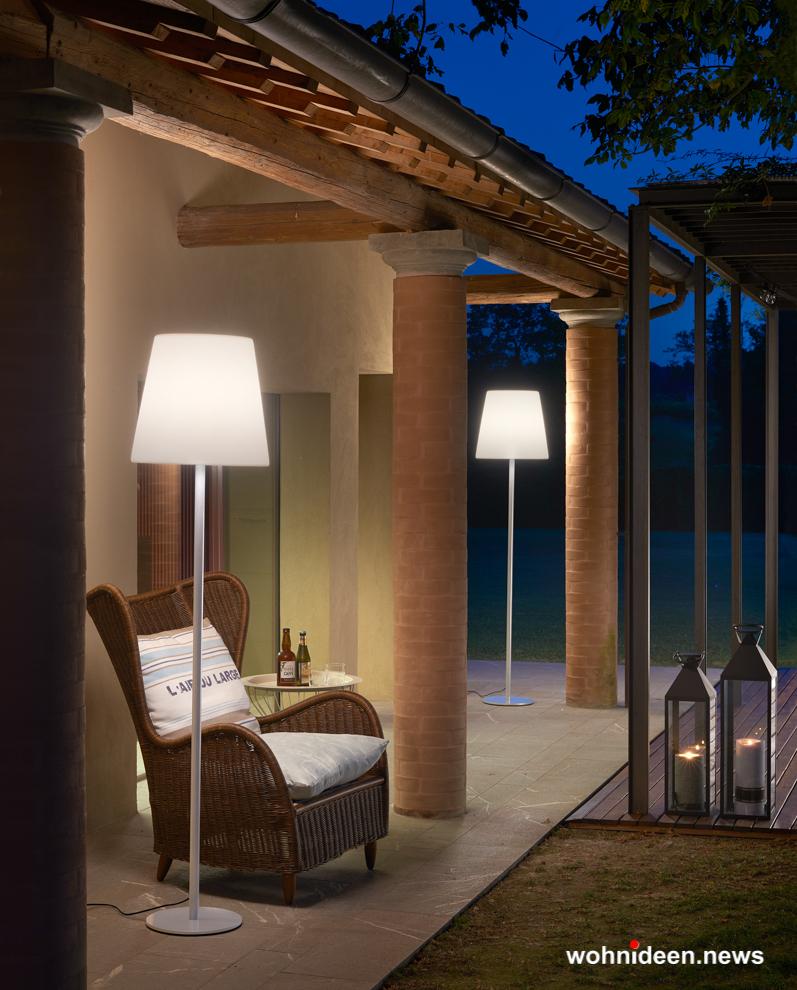 loungemöbel beleuchtet floor lamp ali baba steel 2 - Loungemöbel Outdoor Wetterfest