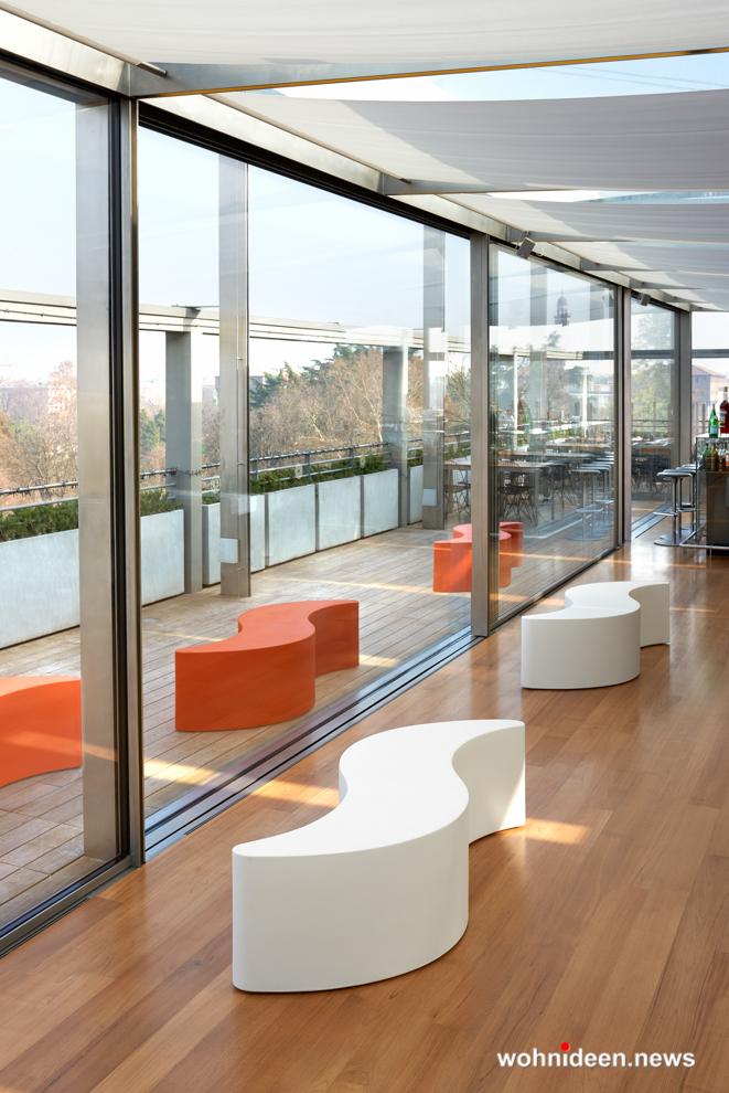 loungemöbel gartenmöbel bench wave 1 - Hochwertige beleuchtete Outdoor Loungemöbel