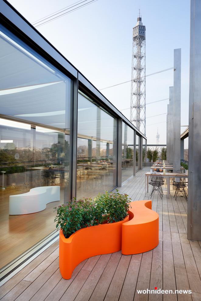 loungemöbel gartenmöbel bench wave 2 - Hochwertige beleuchtete Outdoor Loungemöbel